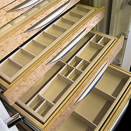 Jewelry safe drawers, trays and custom wood
