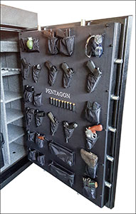 custom safe door back gun holders