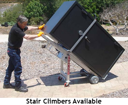 Safe moving stair climbers