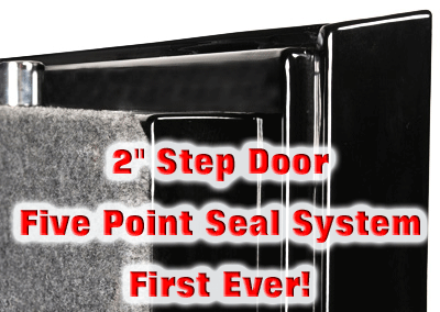 Sportsman Safes 2 inch step door with five point seal system