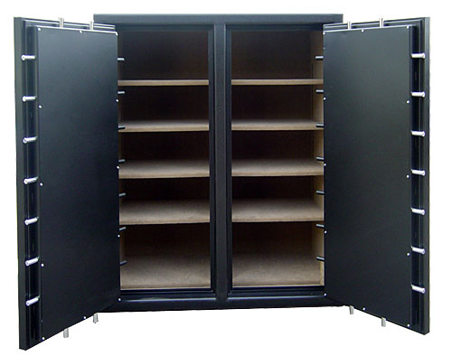 Double Wide Double Door Safe interior for sale in Oklahoma