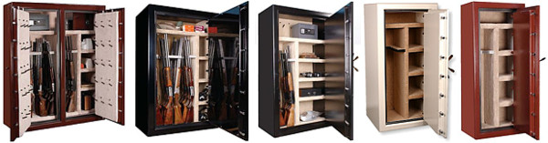 gun safe interiors, gun safe options