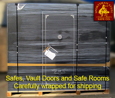 Safes and shelters wrapped for shipping