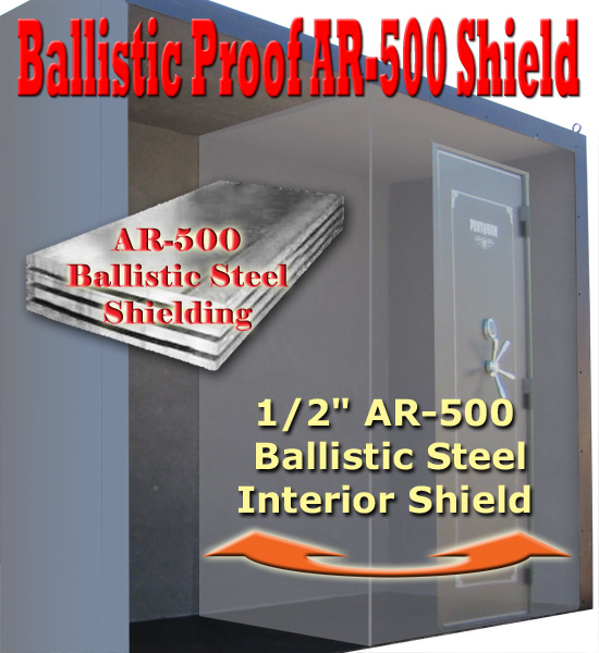Ballistic shield room Sportsman Safes