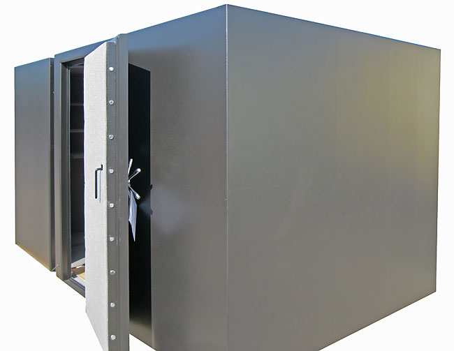 Storm shelter doors steel safe room doors for Safe room builders