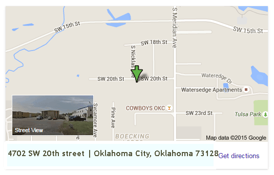 Map Oklahoma Gun Safe and Storm Shelters