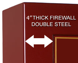 5 inch thick firewall double steel