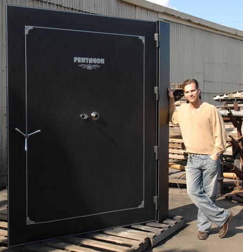 Custom large size vault doors for Walk in safes for homes