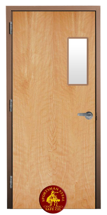 Bullet Proof Door Wood grain