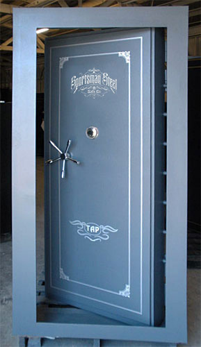 Inward swinging vault door