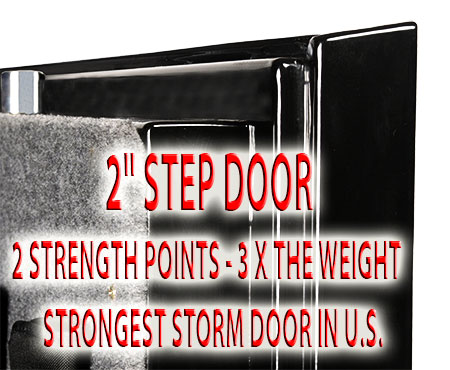 Storm Door with step system