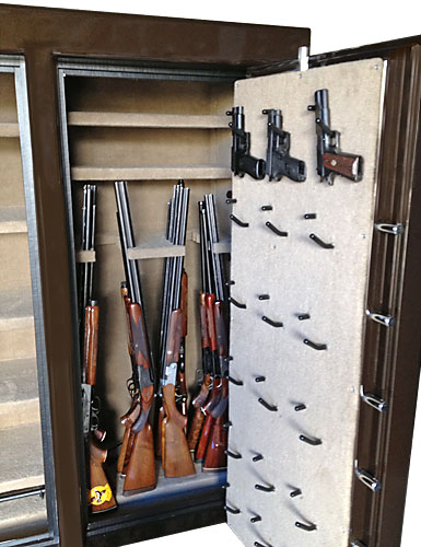 Gun safe interior pistol holders gun racks