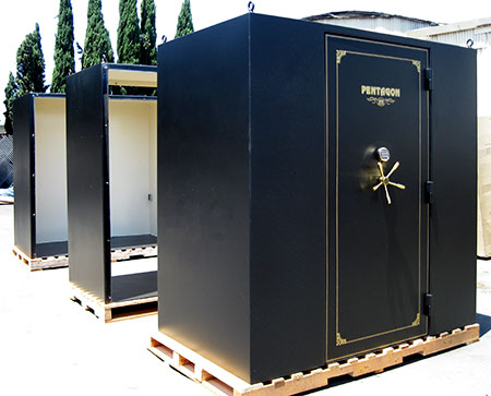 Storm shelters safe rooms gun vault for Safe rooms