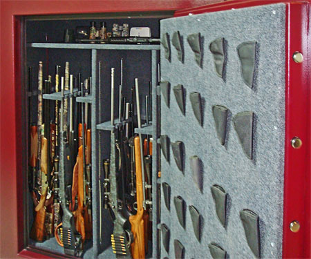 Gun Safe Interior with gun racks