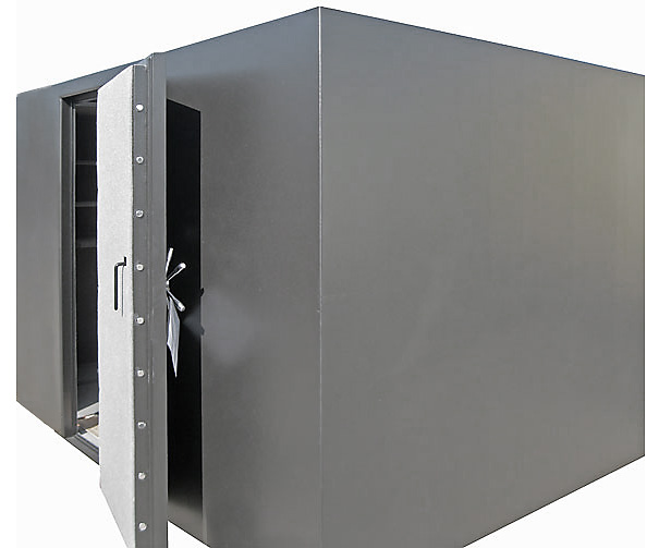 Big gun safes large capacity gun safes double door gun for Walk in safe rooms