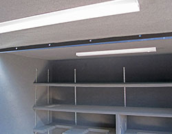 Overhead Shelter Lighting and Electrical Outlets.