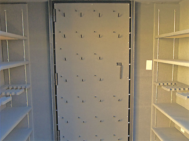 Storm shelter doors steel safe room doors for Custom safe rooms