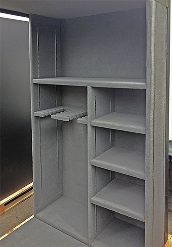 Safe Room Interior with Shelves