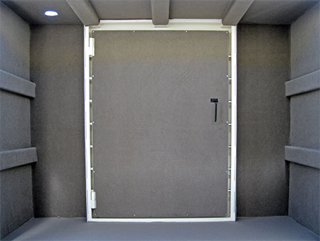 Hurricane shelter storm shelter vault doors storm room for Custom panic room