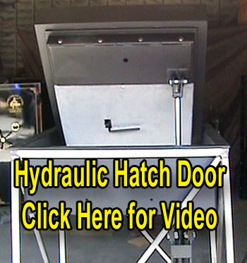 Hydraulic Safe Room Hatch Door